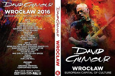 David Gilmour. 2016. Wroclaw. Poland. Pro - Shot. 2 Dvd.