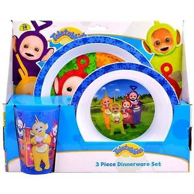 Teletubbies 3 Piece Dinner Set Tumbler Bowl Plate - OFFICIAL Kids Dining GIFT