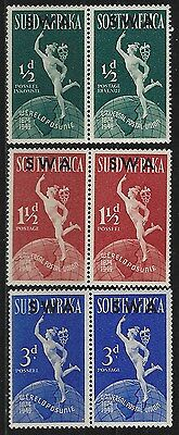 SOUTH WEST AFRICA 1949 Sc#160-2 UPU ISSUE BILINGUAL PAIRS MNH 2083