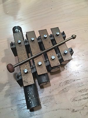 Antique JC Deagan Chimes - 4 Tone Vintage authentic solid brass mallet