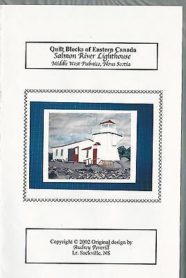 SALMON RIVER LIGHTHOUSE Nova Scotia quilt block full-size pattern