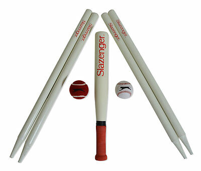 Slazenger Panther Complete Family Rounders Baseball Set Bat Balls Stumps NEW