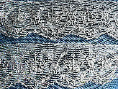 4 YDS 1937 Kings Crown needle workedLace king GeorgeV1 1930s collectable history