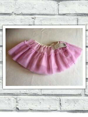 Baby Girls Clothes 9-12 Months - Pretty Pink Tutu Mesh Skirt - New