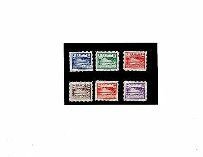 Bolivia South Americs Stamps 1945 Set Of Six Stamps Mint Hinged