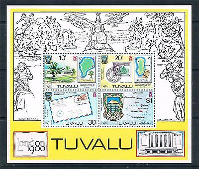 Tuvalu 1980 London Stamp Exhibition MS MNH