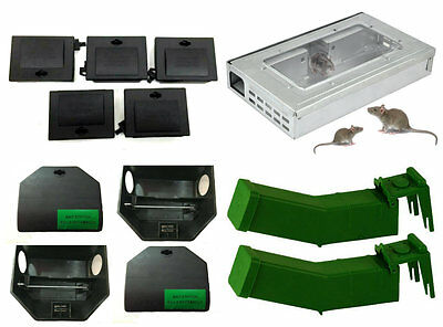 Professional Rodent Bait Box Humane Rat Trap Bait Station Mice Mouse No Poison