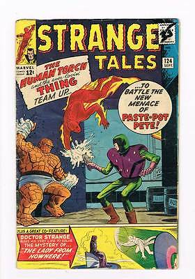 Strange Tales # 124 Torch / Thing vs Paste Pot Pete grade 4.0 scarce book !!