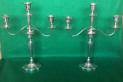 Pair of Adam style Victorian candelabra by Walker & Hall c1890