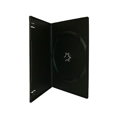 100 7mm Single SLIM HOLD 1 DVD Cover Disc Case BLACK colour - COURIER ONLY