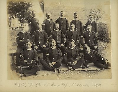 NCO's D Co 2nd Devonshire Regiment In India 1890 Photo - Clarinet
