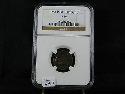 1858 Flying Eagle Cent - NGC F12  (16-457)