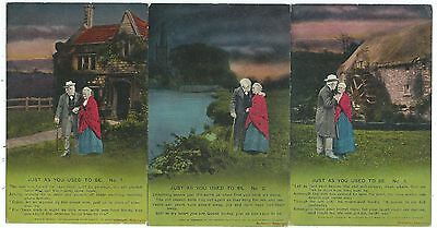 """BAMFORTH - """"JUST AS YOU USED TO BE""""  Set of 3 Song Cards  no. 4687/1-3"""