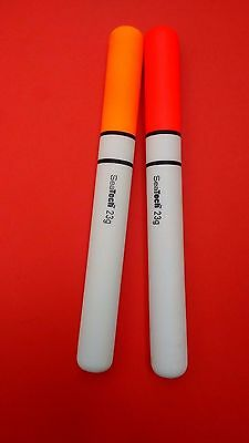 SEA FISHING FLOATS 2 X 23g PENCIL  FLOATS FROM SEATECH 100%  7 INCH FLOATS