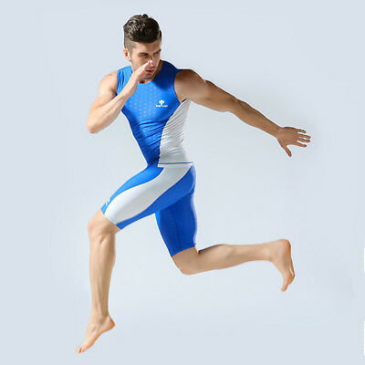 Swimhxby Boy Men Two Piece Sport Fitness Swim Vest Top Jammers Swimming Trunks