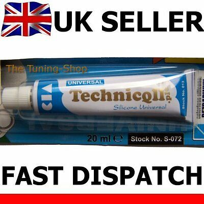 "1x Clear Silicone Adhesive Glue Sealer 20ml Universal ""Liquid Gasket"" Technicqll"