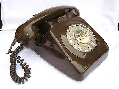 Vintage Retro BT Rotary Telephone - Chocolate Brown - GWO