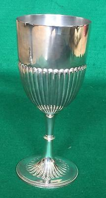 Large victorian fluted goblet by Aitken Brothers c1880