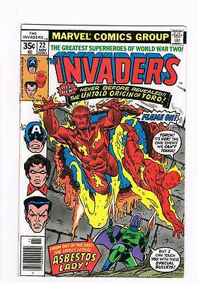 Invaders # 22 The Fire That Died ! grade - 9.0 scarce book !!