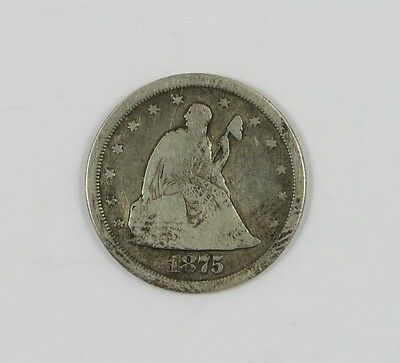 1875-S Twenty Cent Piece - Good Condition !! >>> FREE SHIPPING <<<
