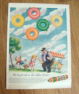 1944 Life Savers Candy Ad  How to get rich in the Balloon business
