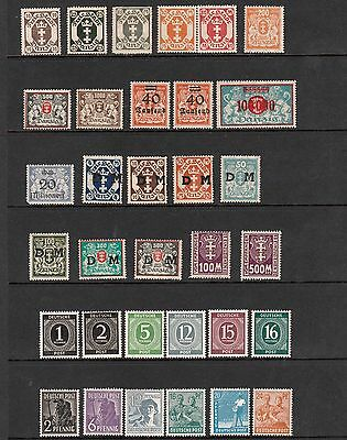 GERMANY 1920s-1940s MINT STAMPS FROM DANZIG & EARLY DEUTSCHE POST TYPES MNH