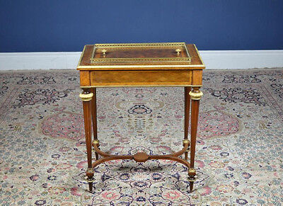 RARE! French Ebeniste Marquetry Ormolu Gilt Bronze Wine Table ~ Paul Sormani yqz