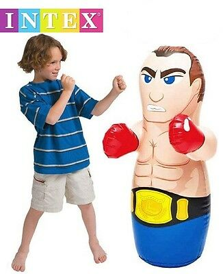Inflatable 80cm BOXER 3D Boxing Punch Bop Bag Kids Outdoor Indoor Game Toy 44669