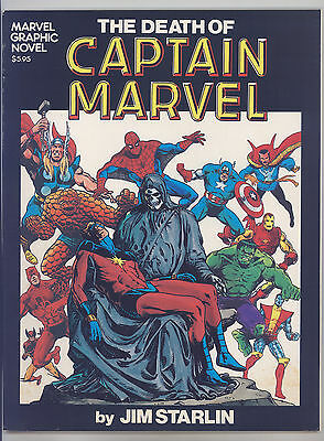 Marvel Graphic Novel #1 (1st Print) FN Starlin, Death of Captain Marvel, Thanos