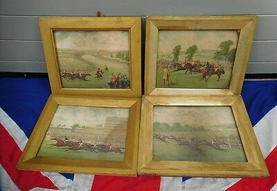 Antique Vintage Victorian English Country Pursuits Horse Racing Prints Interiors