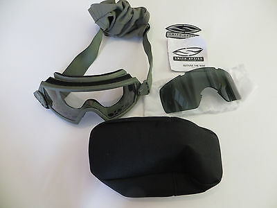 02f03bc5d79 SMITH OPTICS ELITE Outside the Wire green Goggles Clear lenses  display  model