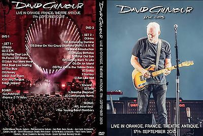 David Gilmour. 2015. Orange. France. Theatre Antique. 2 Dvd.