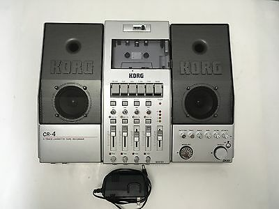 KORG CR-4 MULTITRACK STEREO CASSETTE TAPE DECK-RECORDER CR4 includes ac adapter