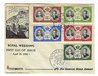 1956 Monaco First Day Cover- Prince Rainer & Princess Grace Kelly Wedding (II41)