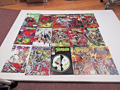 Huge Lot of 15 SPAWN Comic Books, Good/NM Condition RARE L46