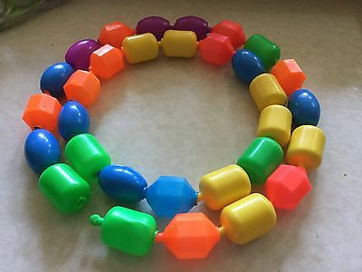 Vintage Fisher price pop beads, 31 total. Gently used condition! Colorful!