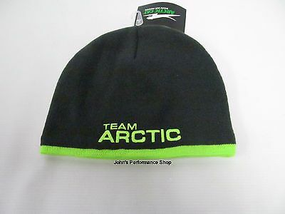Adult Size Gray & Lime Green Team Arctic Cat Race Beanie Hat 5279-564