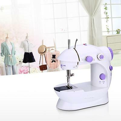 Anself Mini Household Purple Electric Sewing Machine 2 Speed Adjustment 100-240V