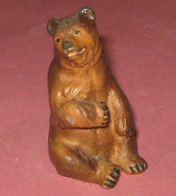 Hand Carved Brown Bear From Switzerland