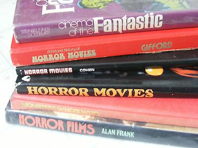 6 vintage 1970s & 1980s HORROR MOVIE BOOKS Frank, Cohen, Gifford, Crescent more
