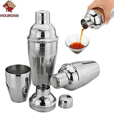 550ml Stainless Steel Cocktail Shaker Cocktail Mixer Wine Martini Drinking Bar