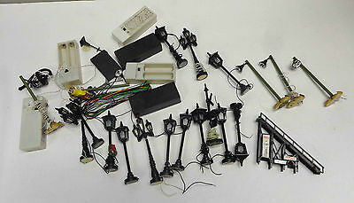 O Scale Light Post Street Lamps + Wiring LOT!