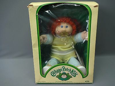Vintage 1983 Ideal Original Cabbage Patch Kid Girl In Box w/ Birth Cert Red Hair