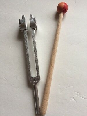 Long Stem OM Tuner Tuning Fork 136.1 Hz  with Mallet & Velvet Pouch USA Shipping