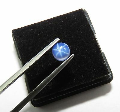 Awesome 0.70 Ct Certified Round Shape Natural Star Blue Sapphire gemstone