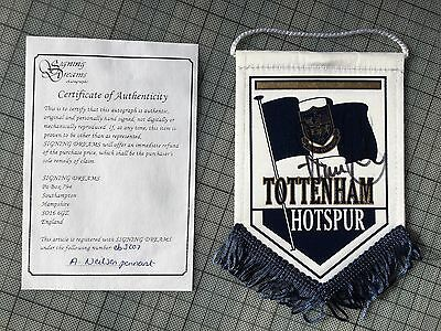 allan nielsen Tottenham Signed Pennant With Certificate Of Authenticity Spurs
