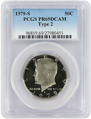 1979-S Type 2 Kennedy Half PR69DCAM PCGS Proof 69 Deep Cameo Clear 'S'