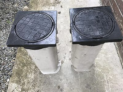 2 X Atplas Boundary/water Meter Box With Blanking Cap And Square Frame