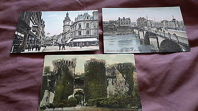 3 x old postcards of Newport, Wales