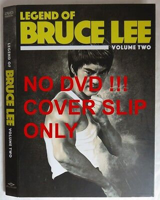 No Discs !! Legend Of Bruce Lee 2 Dvd Cover Slip Only - No Discs !!   (Inv13604)
